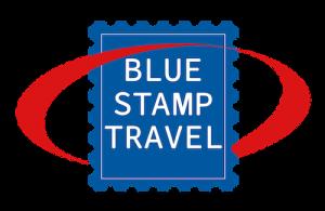 Blue Stamp Travel Logo