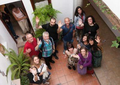 Granada Spanish Language School Courtyard Spain