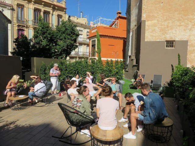 Valencia Spanish Language School Roof Garden, Spain