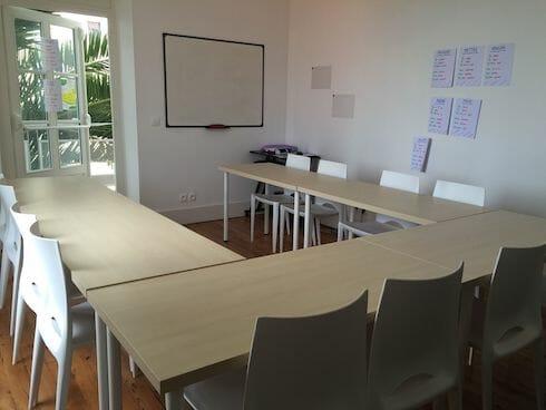 Biarritz French Language School Classroom, France