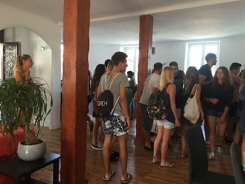 Biarritz French Language School Reception, France
