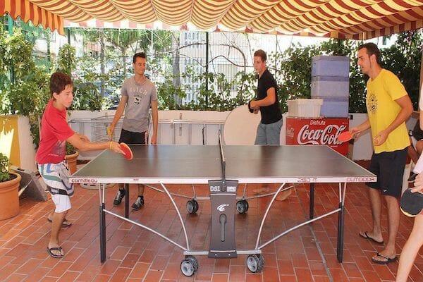 Benalmadena Spanish Language School Summer Camp Table Tennis