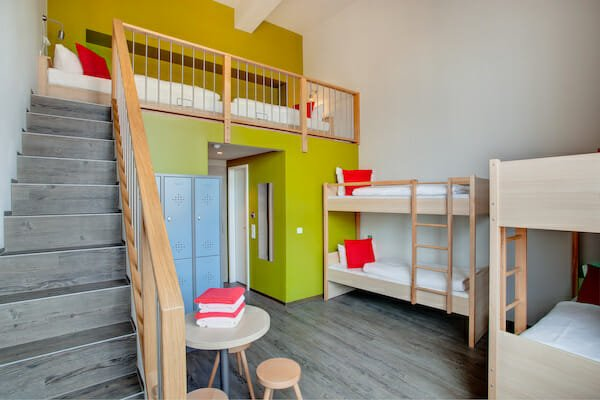Bedrooms at student hostel