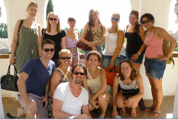 Granada Spanish Language School Excursion to the walled gardens of the Alhambra, Granada.
