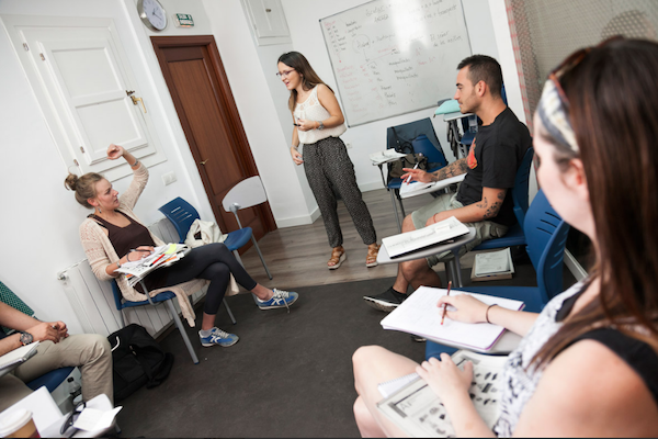 Granada Spanish Language School Classroom. Spain