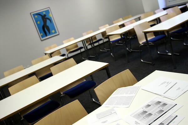 Classrooms at Hamburg German Language School, Germany.