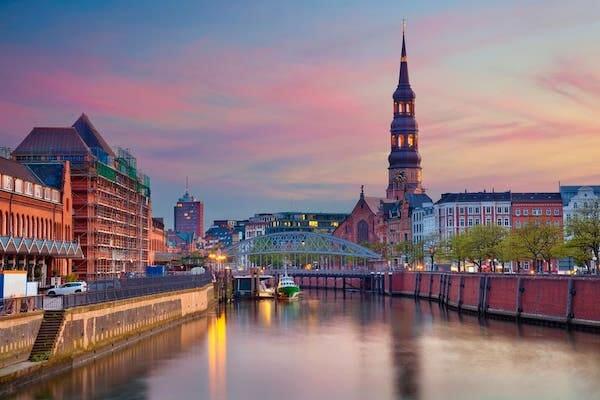 River in Hamburg, Germany.