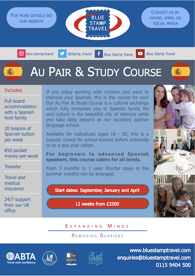 Au Pair and Study in Spain