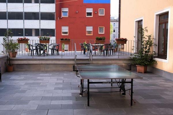 Munich German Language School Roof Terrance, Germany