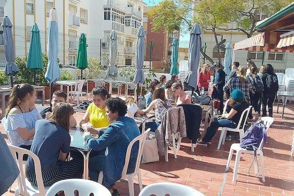 Benalmadena Spanish Language School Terrace