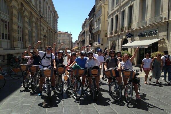 Montpellier French Language School Bike Tour
