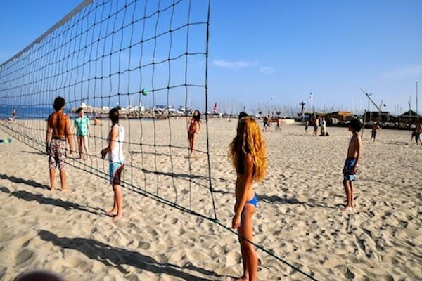 Montpellier French Language School Beach Volleyball France