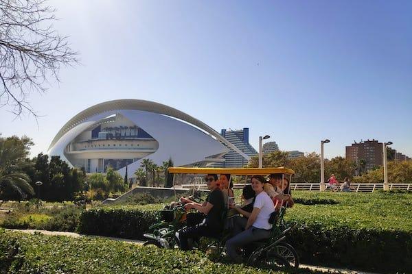 Valencia Science and Arts Park, Spain. Bike Tour