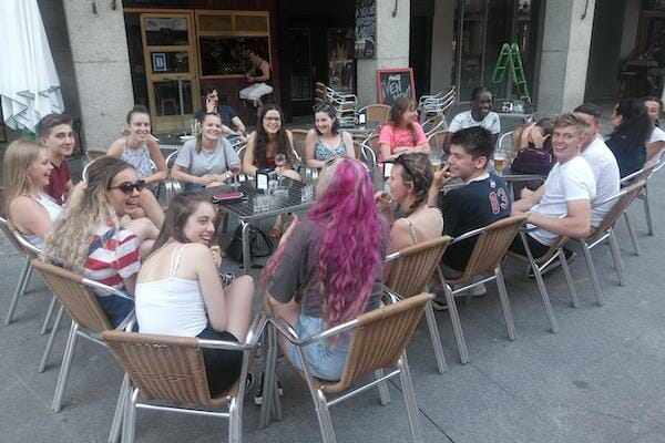 Work Experience Abroad Group at Cafe