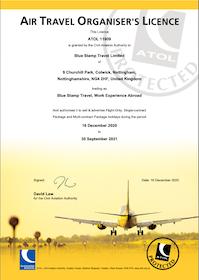 ATOL Certificate