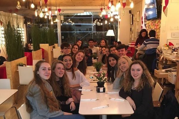 Work Experience Abroad Evening Meal