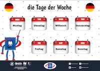 Days of The Week - German