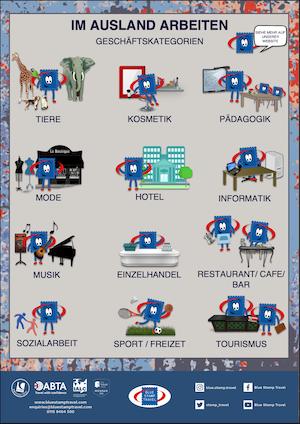 Work Experience Business Categories - German
