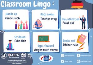 German Classroom Instructions Poster
