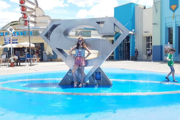 Faith Pring at Water Feature