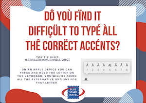 Typing Accents