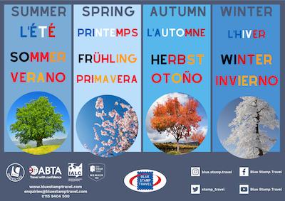 Seasons Poster - French German Spanish