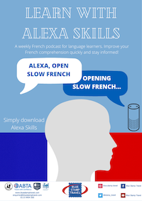 Alexa French Skill Poster